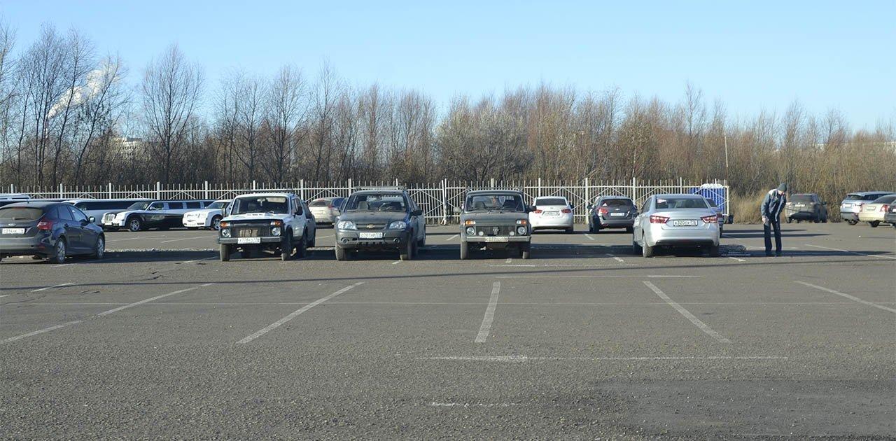 Дорожно-транспортное происшествие на парковке